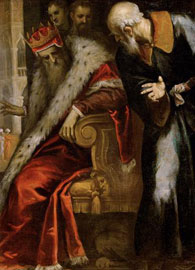 Palma Giovane (1548-1628), The Prophet Nathan Admonishes King David