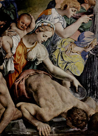 Agnolo Bronzino, detail, Moses Strikes Water from the Rock