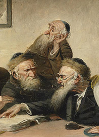 Carl Schleicher, Eine Streitfrage aus dem Talmud (19th century).
