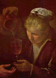 Diego Velázquez, detail, Peasants at the Table (El Almuerzo, c.1620).