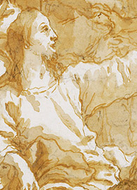 Giovanni Domenico Tiepolo (Italian, 1727 - 1804), detail, Christ at Supper with Simon the Pharisee, with the Anointment of Christ's Feet by Mary Magdalen