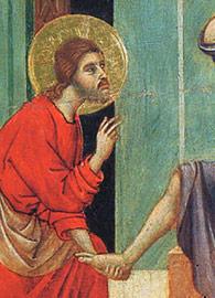 Duccio di Buoninsegna, Christ Washing the Disciples' Feet