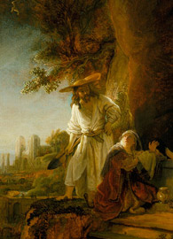 Rembrandt, Christ and St Mary Magdalen at the Tomb (1638).