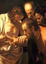 Caravaggio, The Incredulity of Saint Thomas (circa 1601-1602).