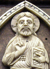 Cluniac ivory carving of Christ in Majesty