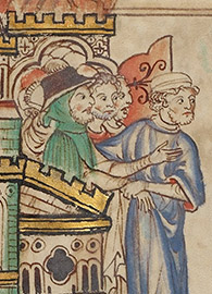 The People of God leaving Babylon and Merchants Lamenting Babylon, from Ms. Ludwig III