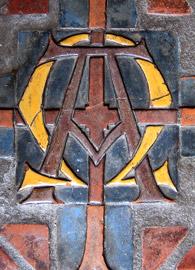 Alpha and Omega floor tile