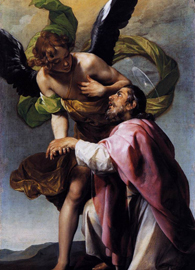 Alonzo Cano, Saint John the Evangelist's Vision of Jerusalem (circa 1636). Oil on canvas. The Wallace Collection, London. Wikimedia Commons.