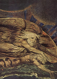 William Blake, Elohim Creating Adam (c. 1795-1805).