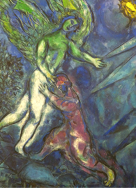 Marc Chagall, Jacob Wrestling with the Angel (c. 1963).