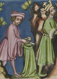 David Cutting Off a Piece of Saul's Robe (circa 1400 – 1410)
