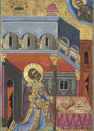 David in Prayer painted by Malnazar circa 1637-1638.