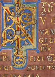 Decorated Incipit Page from Mark's Gospel