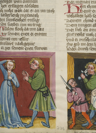 Unknown illuminator, Tamar Complaining to Absalom; Absalom ordering the death of Amnon.