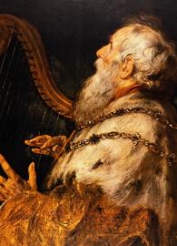 Painted by Peter Paul Rubens, King David Playing the Harp (circa 1616).