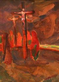 Jindřich Prucha, Crucifixion (1912). National Gallery in Prague. Wikimedia Commons.