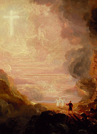 Painted by Thomas Cole, a depiction of the Pilgrim of the Cross at the end of his journey
