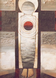 Painted by Grigory Mikheeve (1990), oil on cardboard.