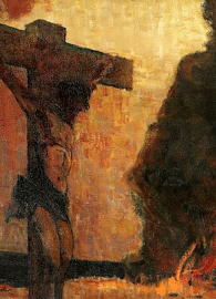 Painted by Wladyslaw Wankie, Christ on the Cross (c. 1902). Oil on canvas.