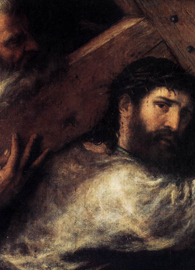 Christ Carrying the Cross (c. 1565). Painted by Titian.