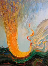 Rudolf Rabatin, Tornado (2003). Acrylic and oil on panel.