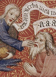 Herman Scheere, God touching the mouth of Jeremiah