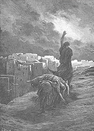 The Levite Carries the Woman's Body Away