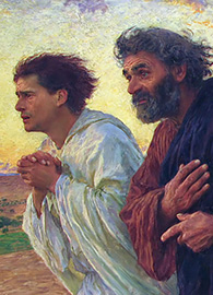 Disciples Peter and John Come Running to the Tomb...
