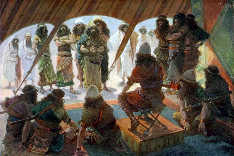 Israelites Whoship God In Temple Craft
